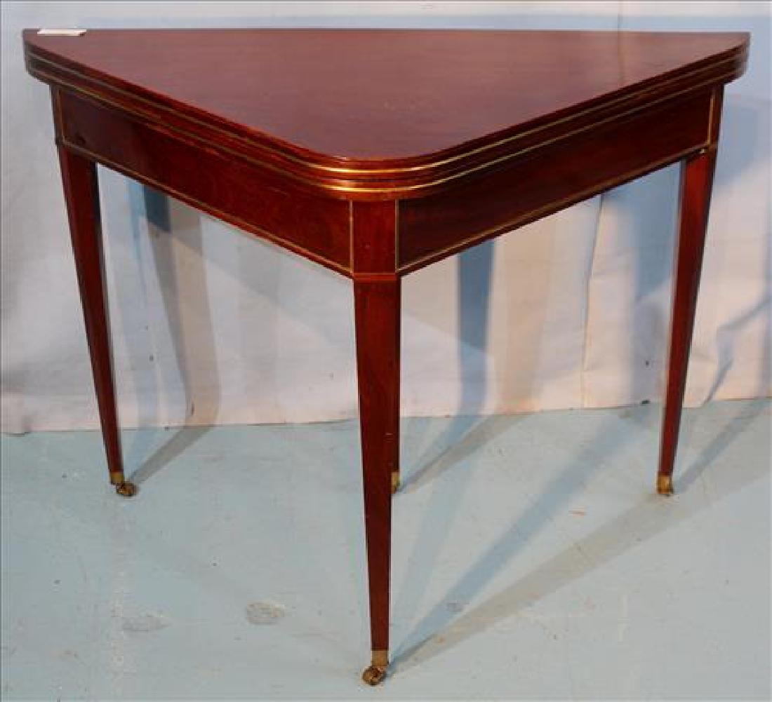19th Century French directoire brass inlaid game table