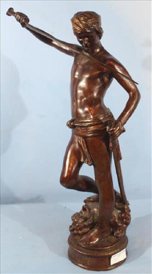 Large figural bronze statue, 45 in. T.