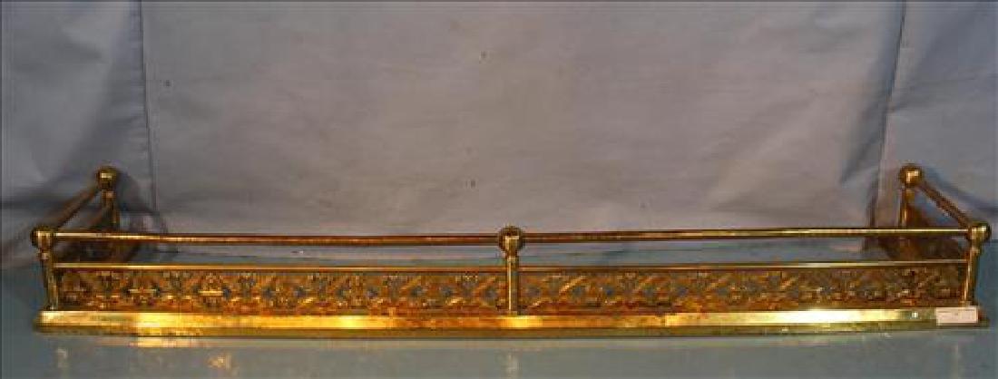 Very ornate 19th Century brass fire fender