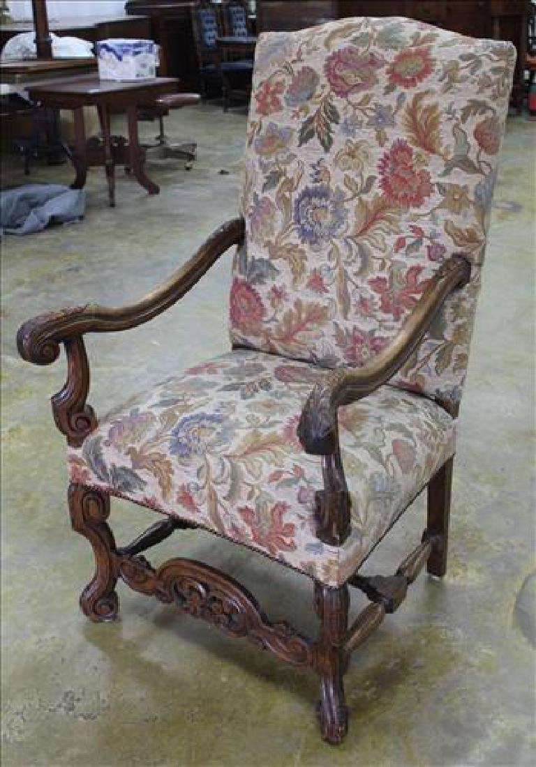 Mahogany fireside chair with tall back - 2