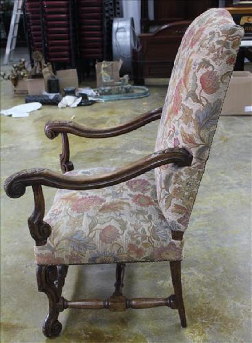 Mahogany fireside chair with tall back - 3