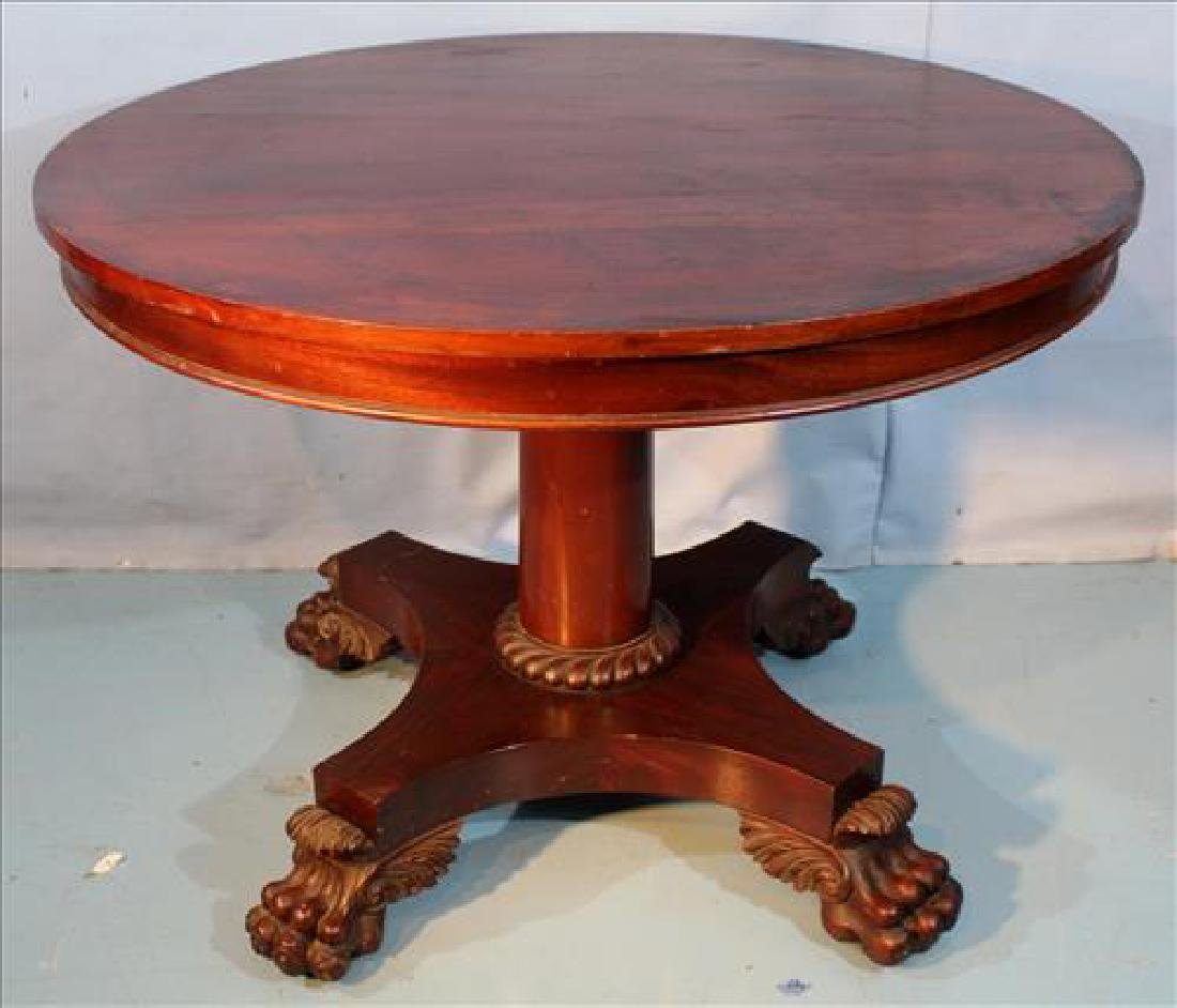 Mahogany round Empire breakfast table