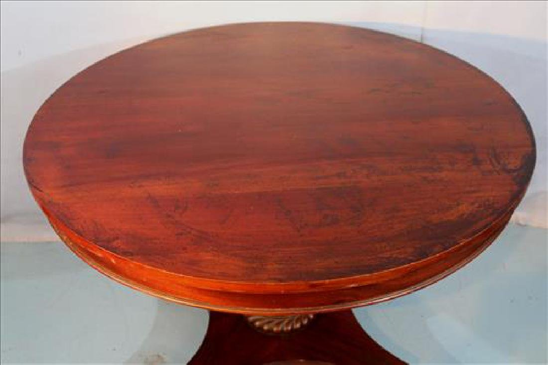 Mahogany round Empire breakfast table - 3