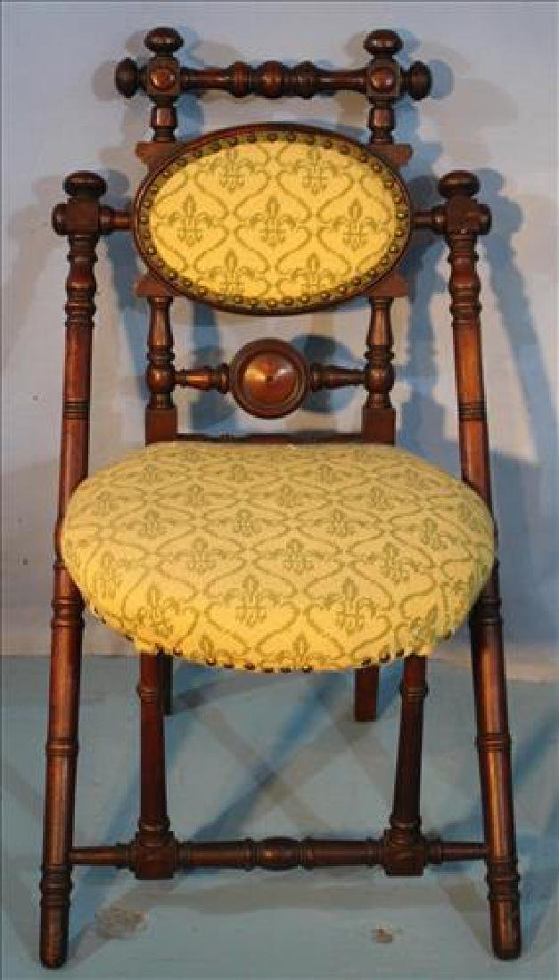 Walnut Victorian signed Hunzinger parlor chair