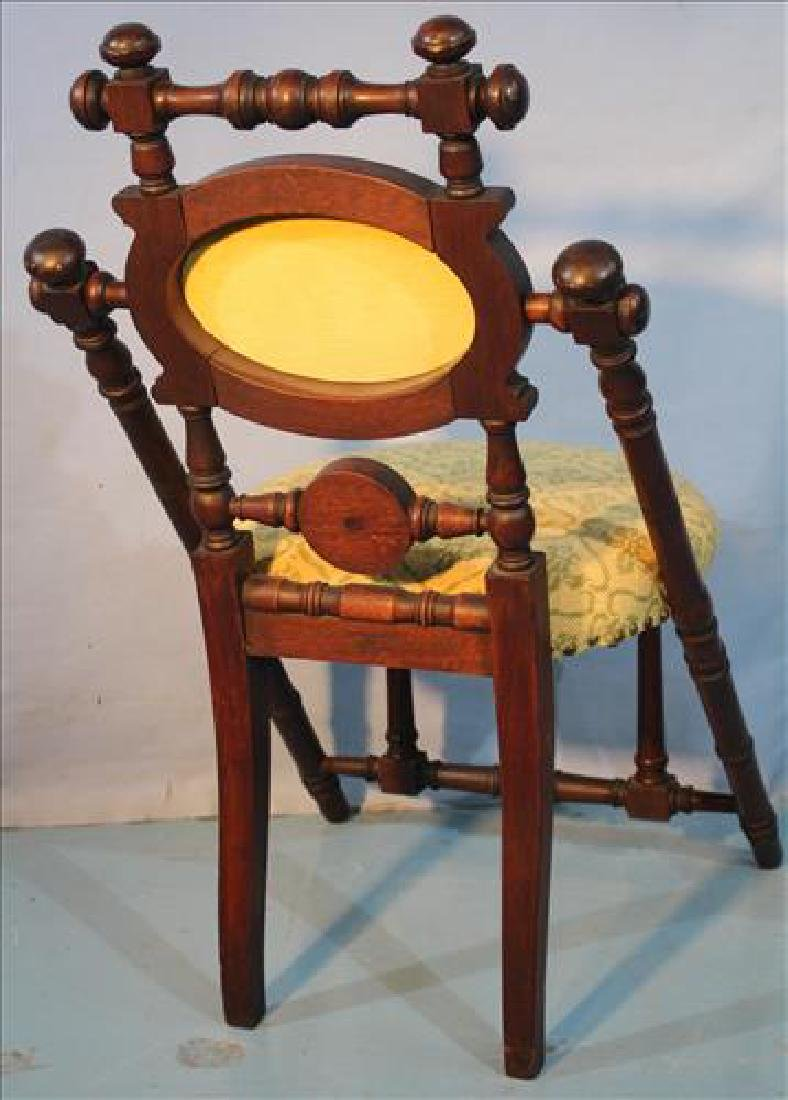 Walnut Victorian signed Hunzinger parlor chair - 3