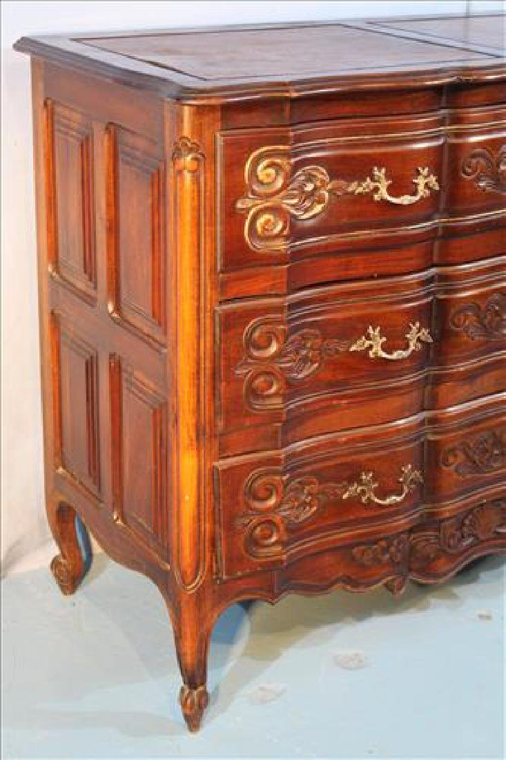 Country French walnut 3 drawer chest - 3
