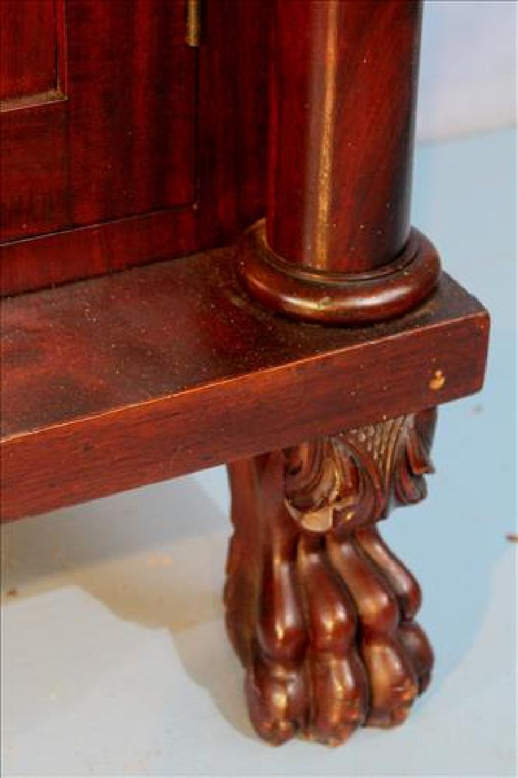 Large mahogany Empire sideboard with claw feet - 2