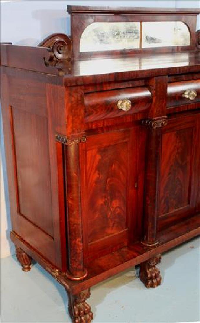 Large mahogany Empire sideboard with claw feet - 4