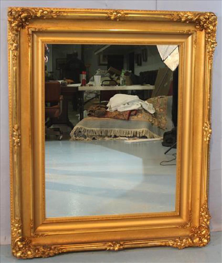 Gold Victorian hanging mirror, 45 x 38