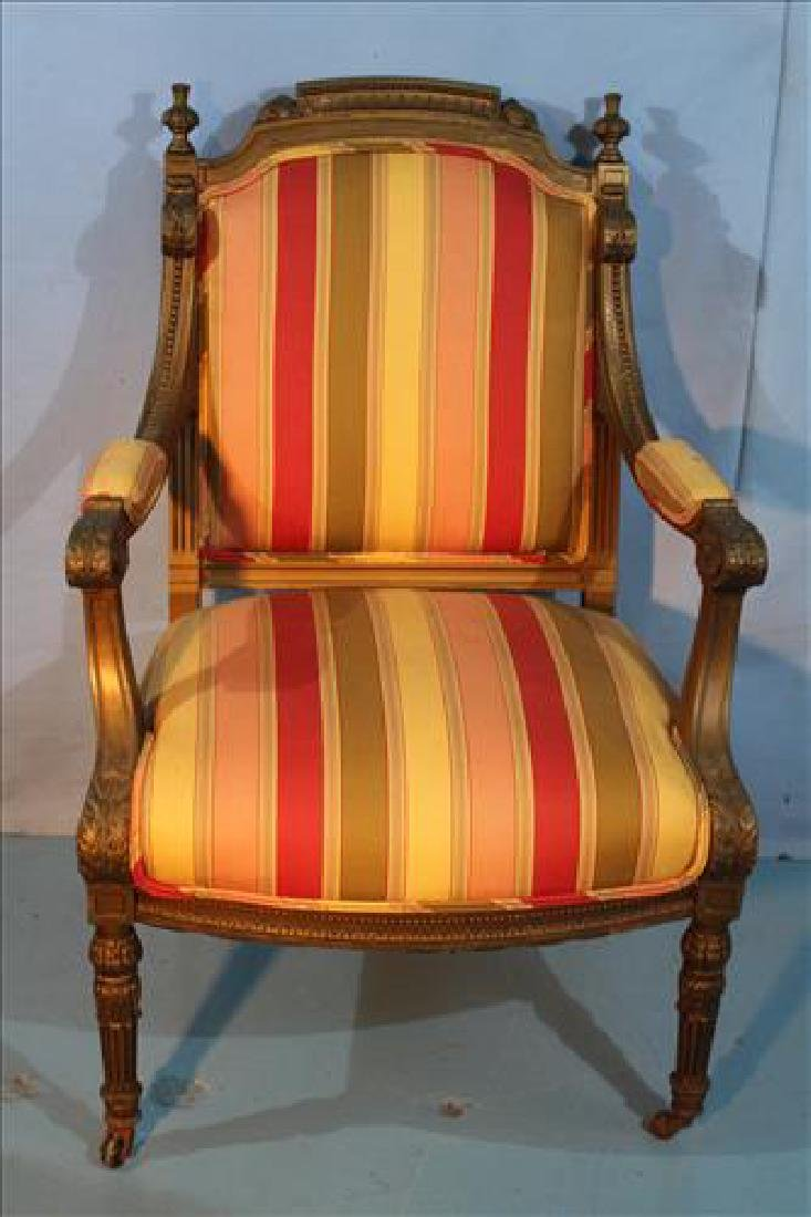 French gold gilded arm parlor  chair