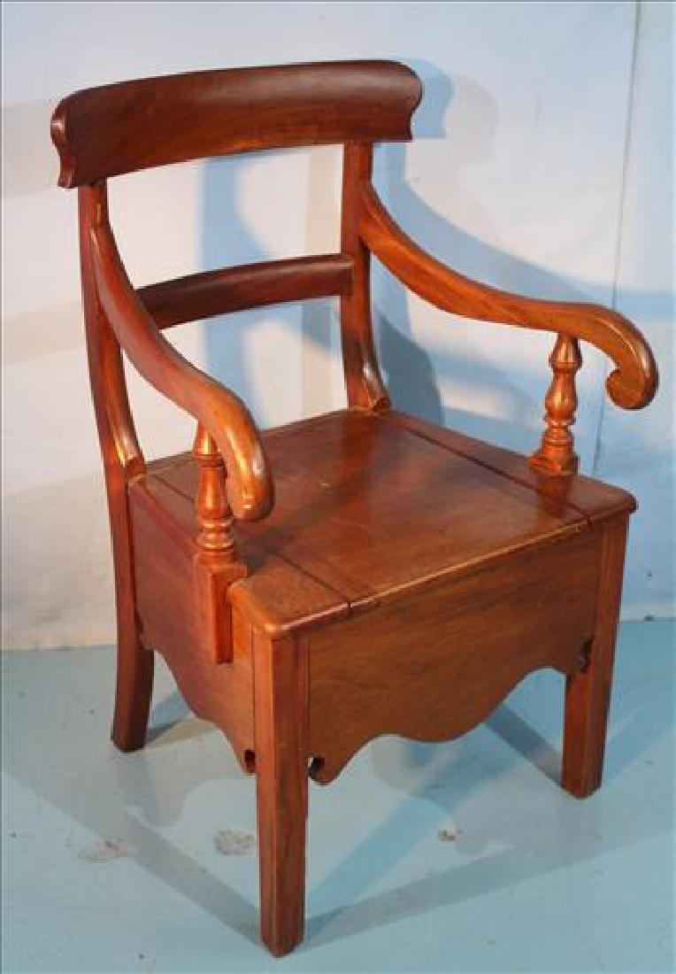 Mahogany Empire potty chair
