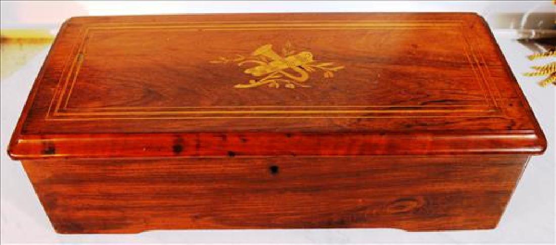 Austrian rosewood Victorian music box in original case