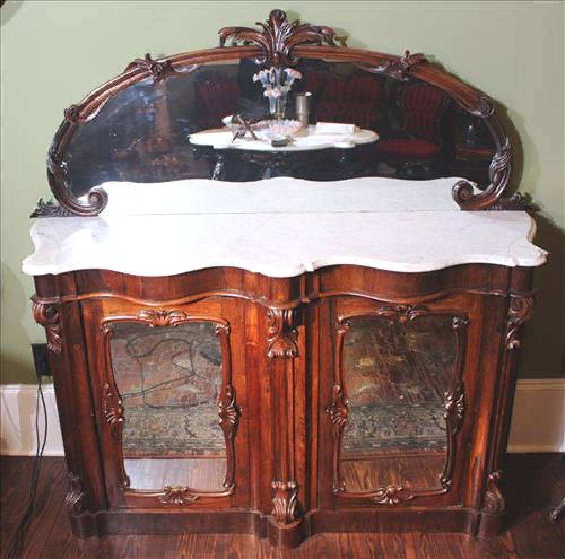 Rosewood Victorian marble top  server