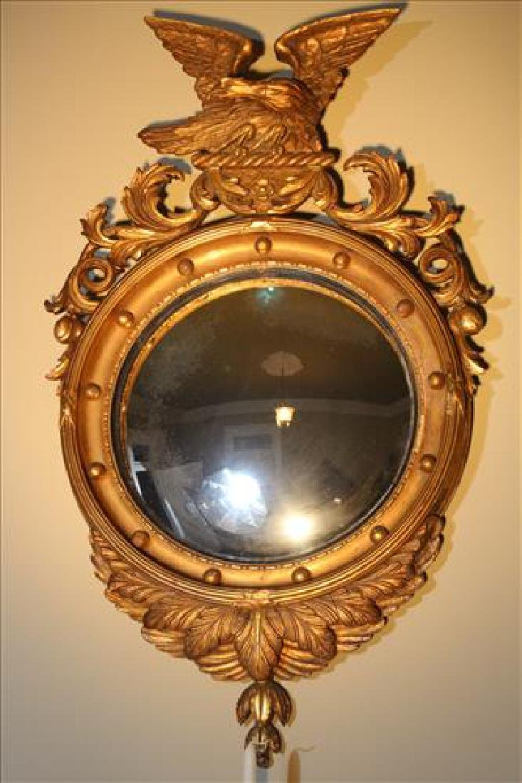 Federal convex mirror with eagle, 40 in. T.