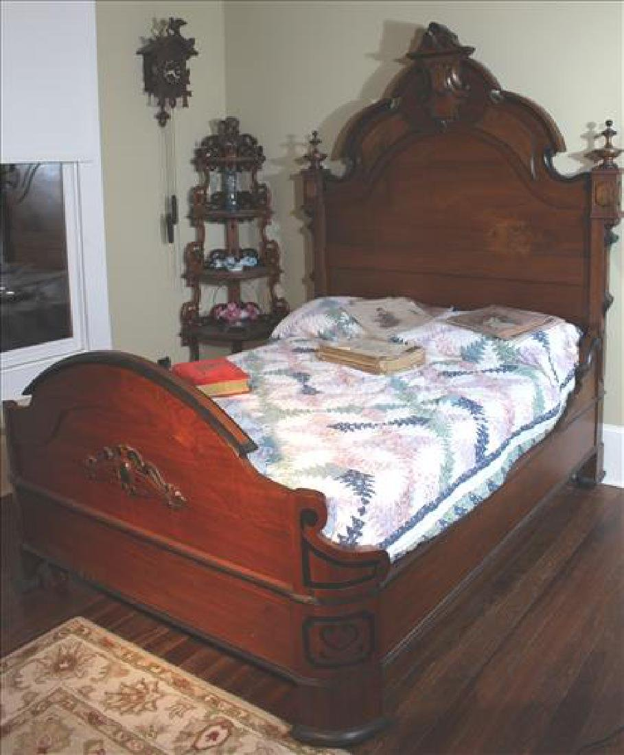 2 piece walnut Victorian high back bedroom suit
