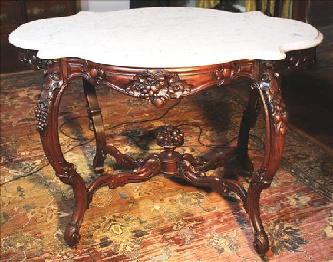Rosewood Rococco turtle top center table