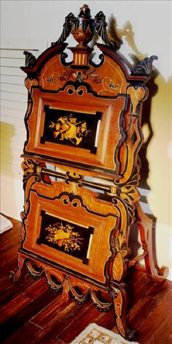 Walnut Victorian Renaissance magazine rack