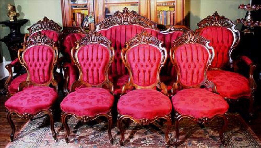 7 piece rosewood laminated parlor suite