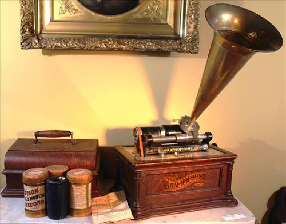 Edison Graphophone, working order with cartridges