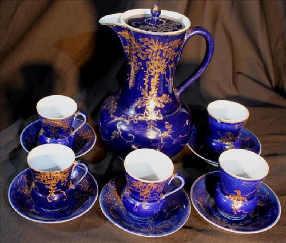 11 piece cobalt blue chocolate set