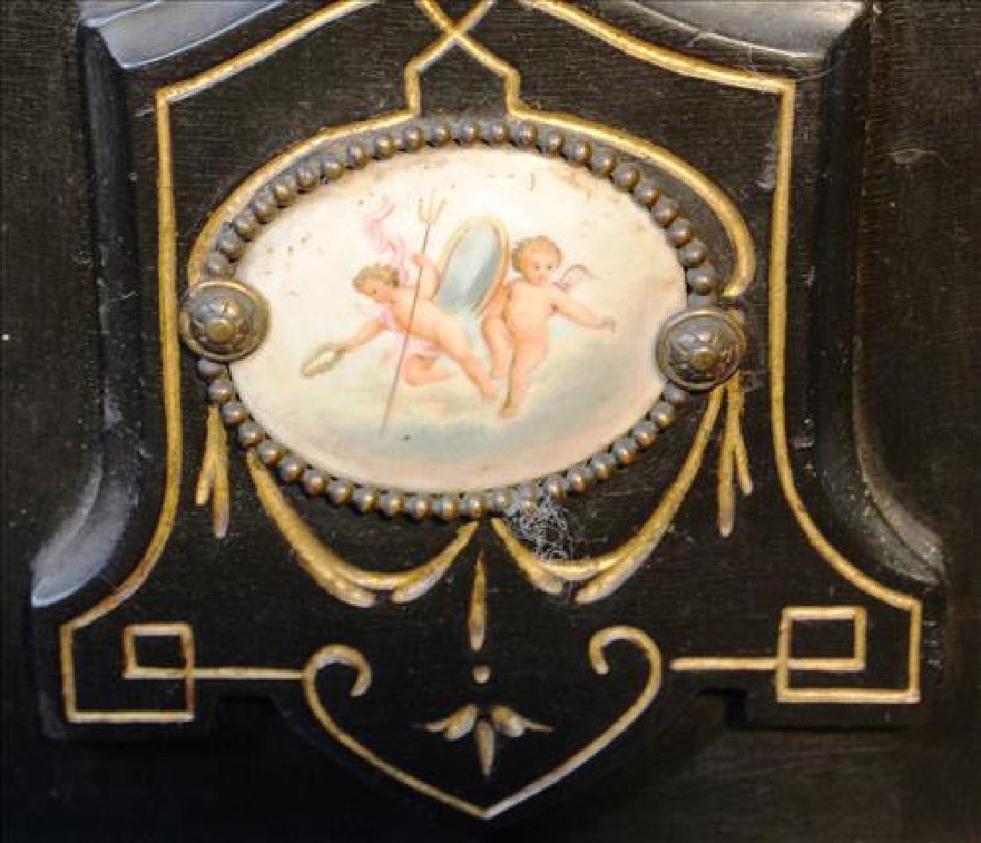 Renaissance ebonized pedestal with Sevres plaque - 2