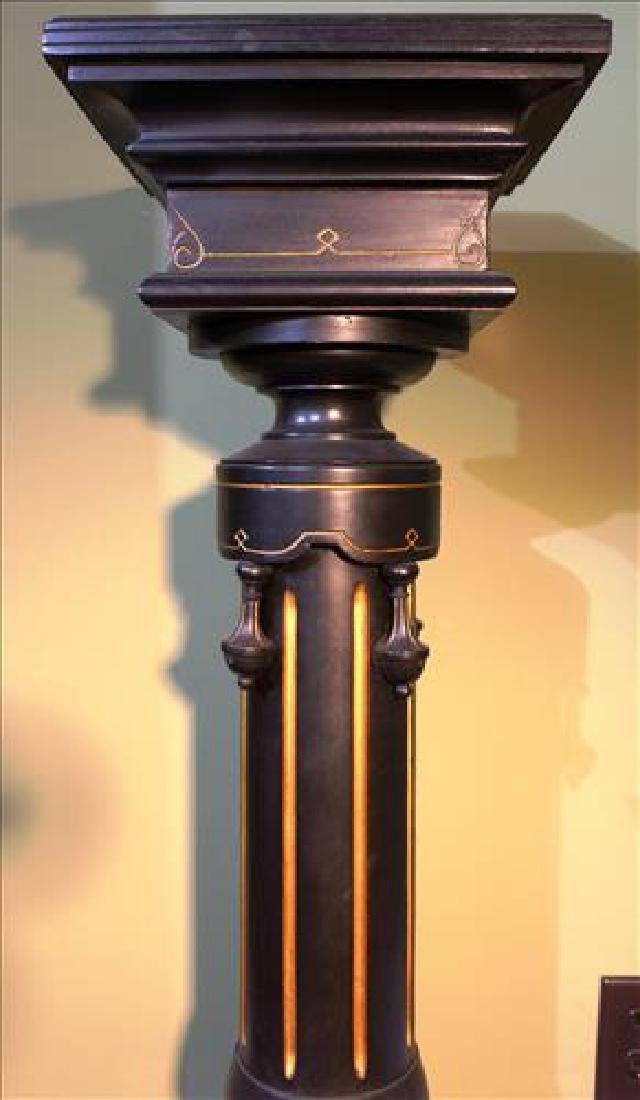 Renaissance ebonized pedestal with Sevres plaque - 3