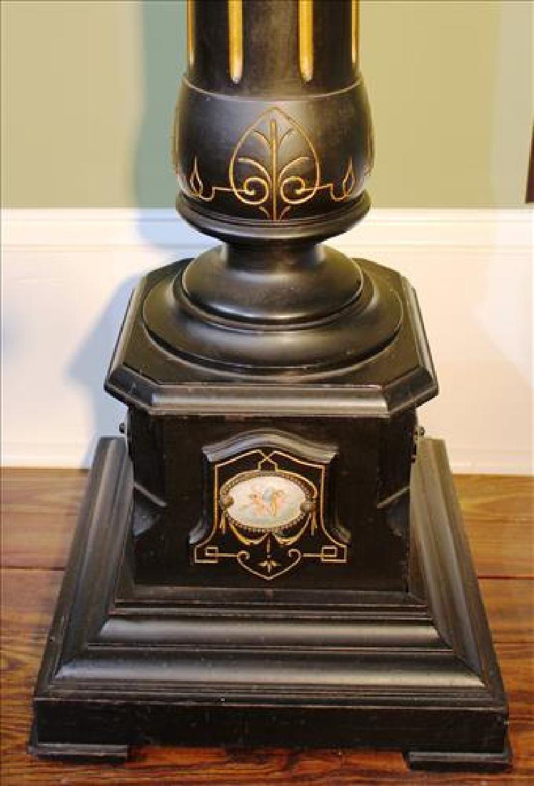 Renaissance ebonized pedestal with Sevres plaque - 4
