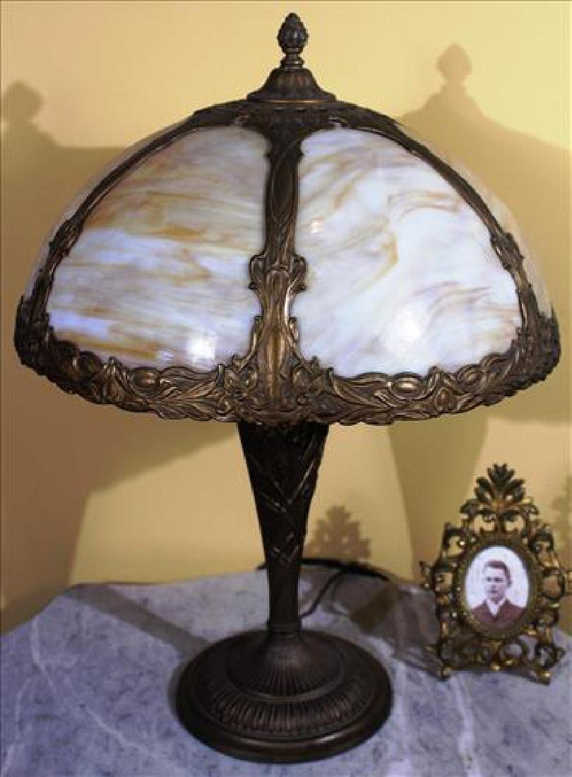 Metal slag glass lamp, 21T