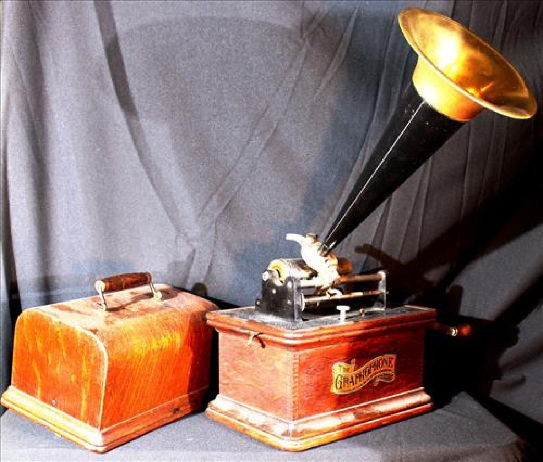 Edison Graphophone in original case, working order