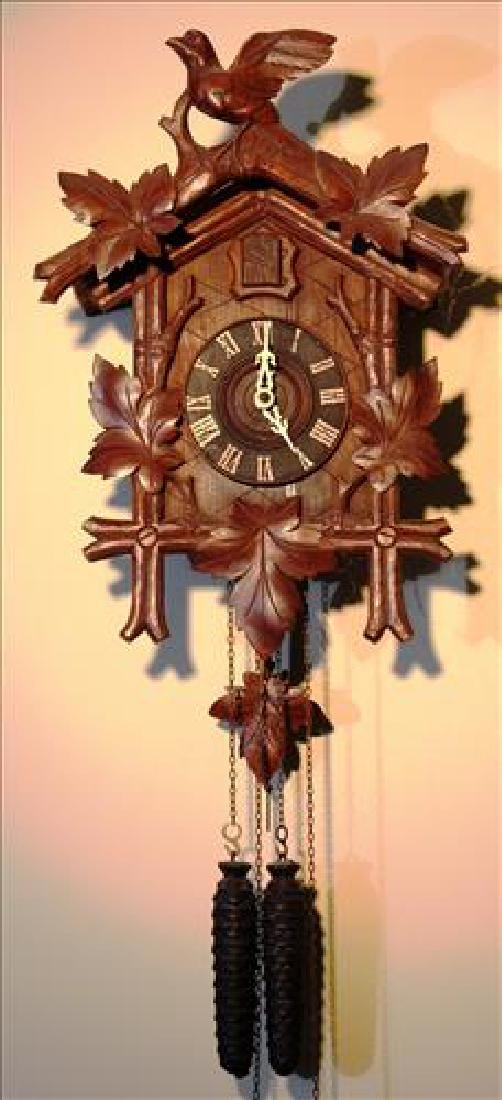 German wall hanging coo coo clock in working order