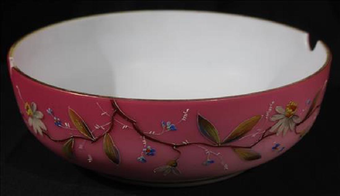 Victorian case glass brides bowl, 3.5 in .T, 9.5 in.