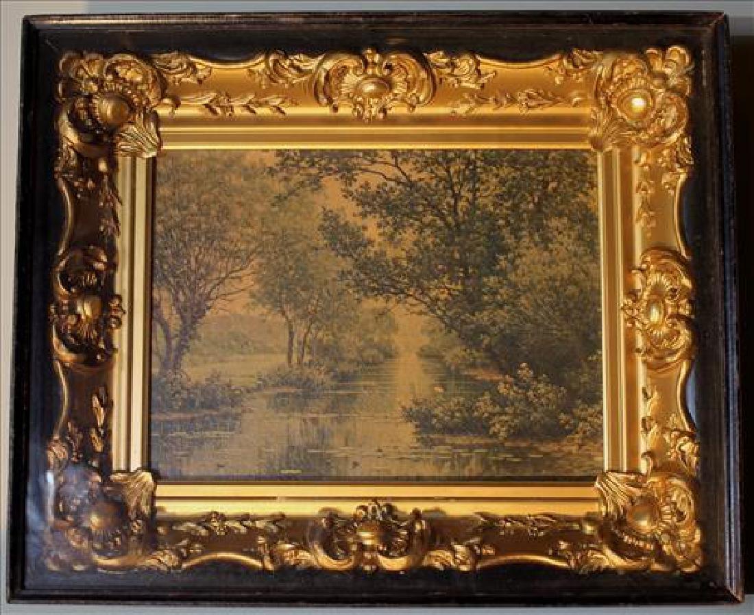 Old print in gold leaf Victorian frame, 14 x 17.5
