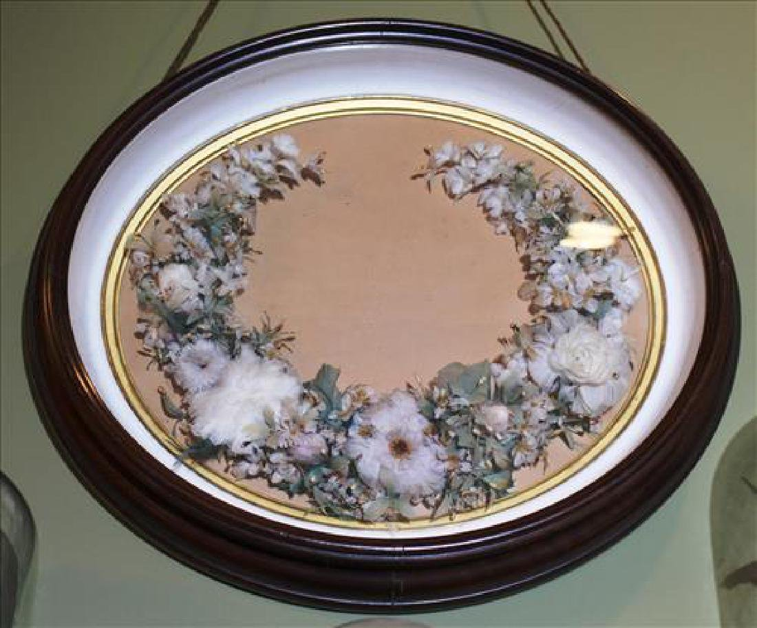 Victorian shadowbox frame with flowers