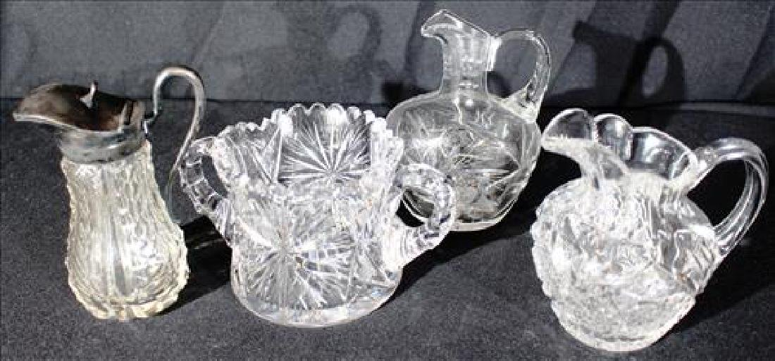 Four misc cut glass pieces