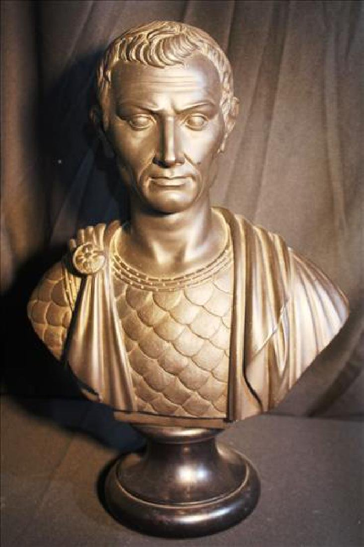 Bust of Julius Ceaser made of chalk, 20 in. T.