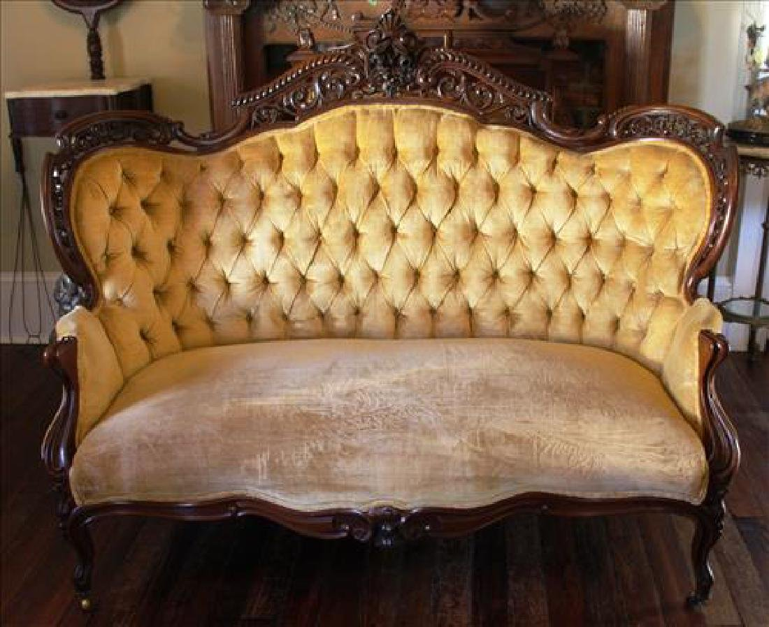Meeks Rosewood rococo parlor sofa in Stanton Hall
