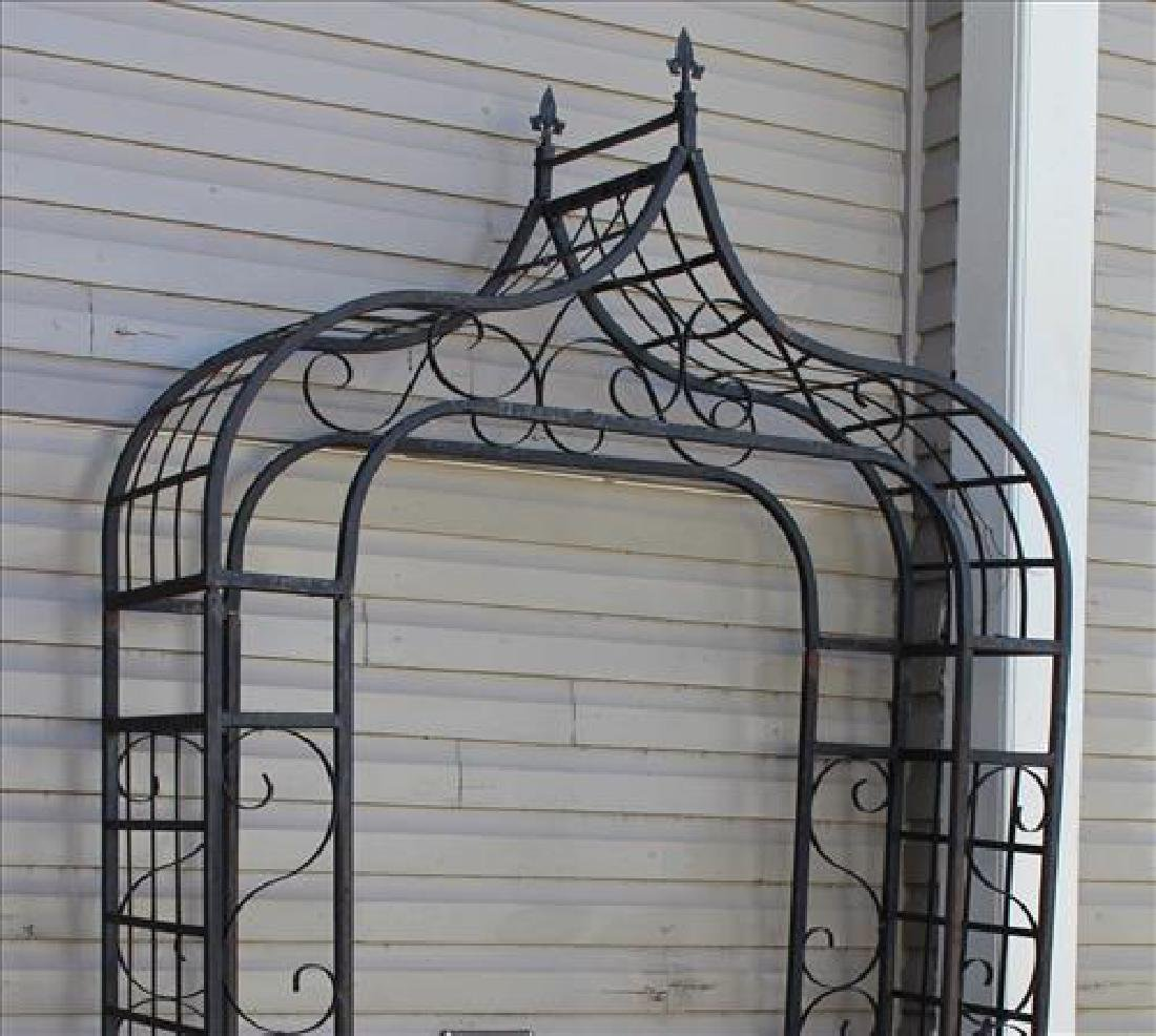 Black cast aluminum arbor, 80 in. T, 52 in. W, 15 in. - 2