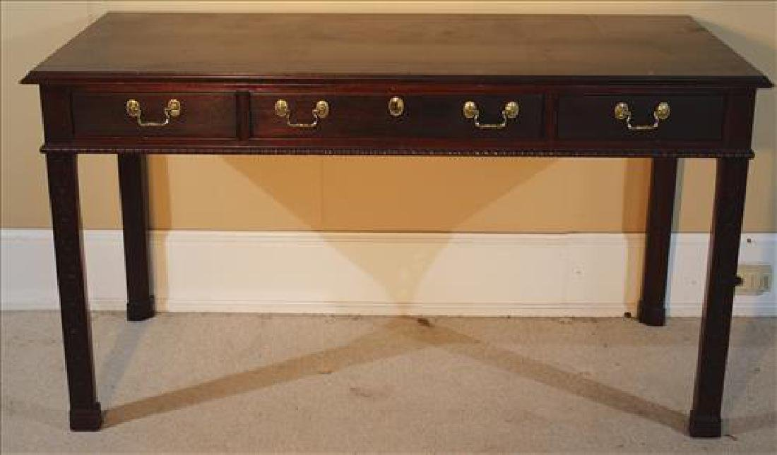 Contemporary Chippendale console desk, signed