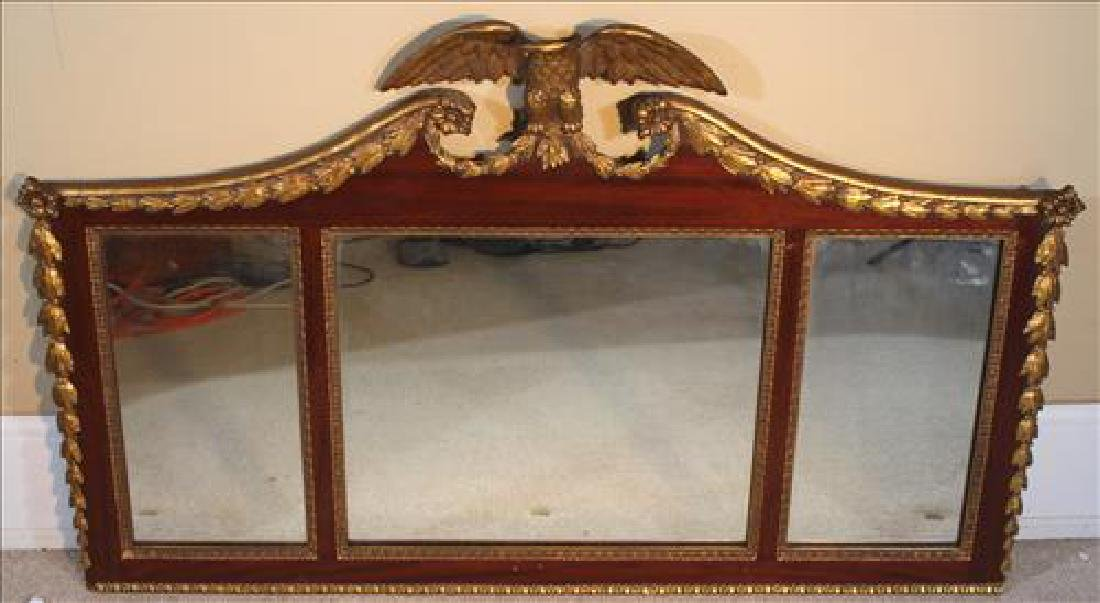 Federal 3 sectional hanging mirror with gold frame