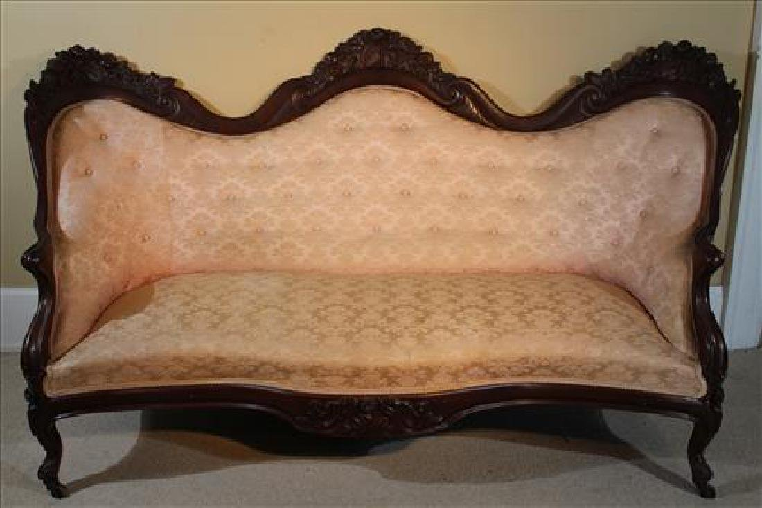 Rosewood rococo parlor sofa by Belter, Rosalie pattern