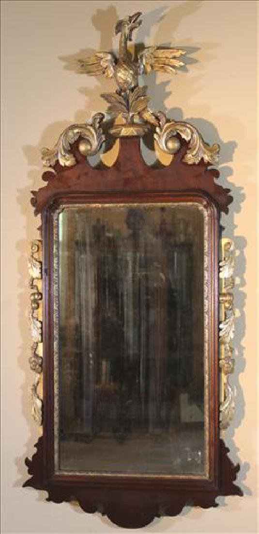 Federal hanging decorator mirror with eagle on crown