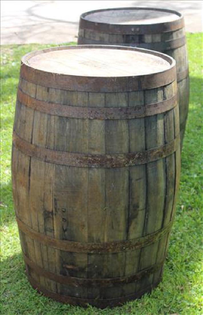 Oak whiskey barrel, 50 gal.