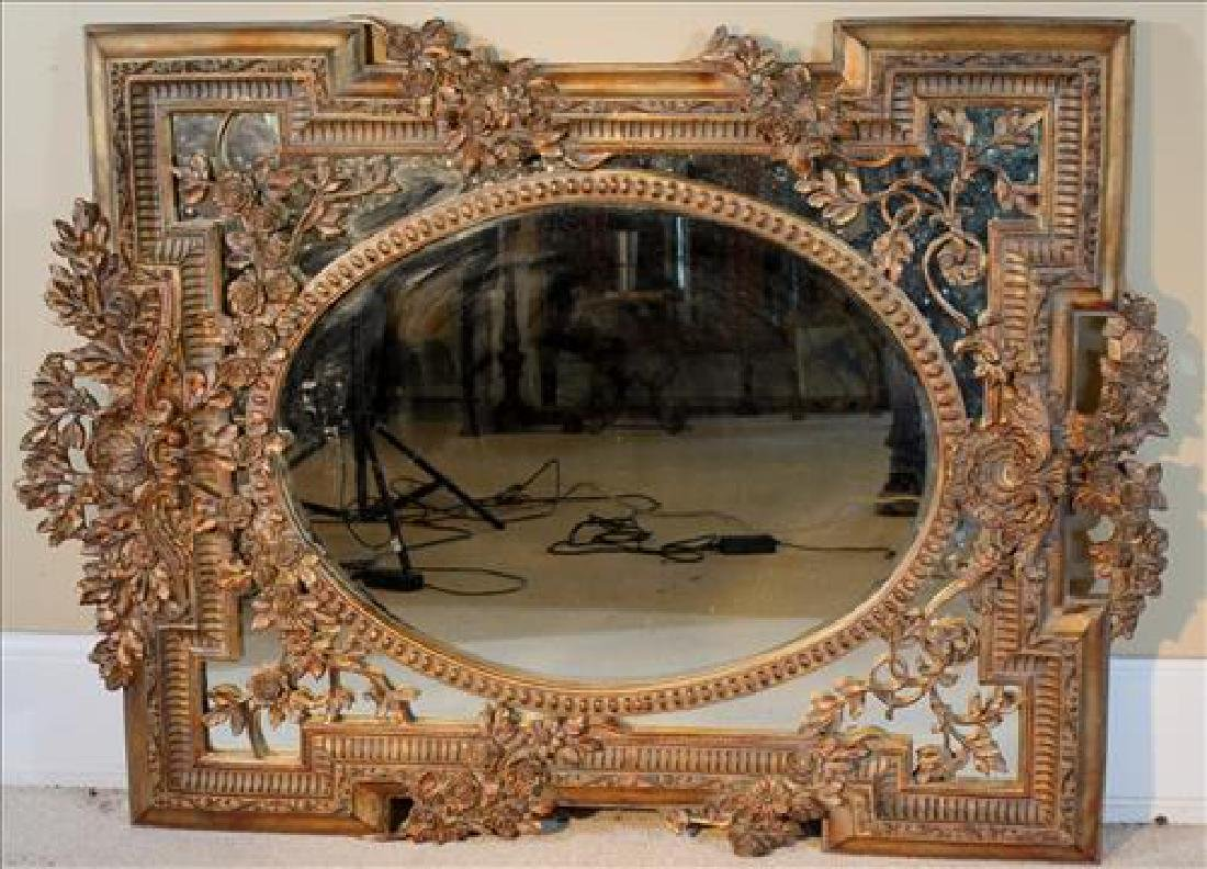 Contemporary very ornate decorator mirror