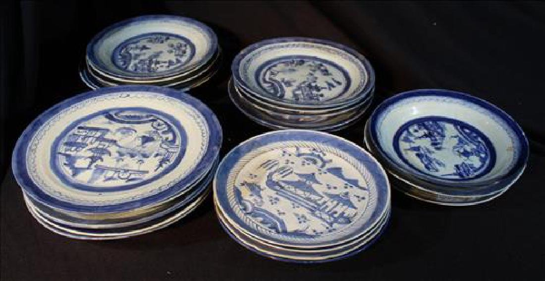 23 pieces of very old Chinese porcelain dinnerware