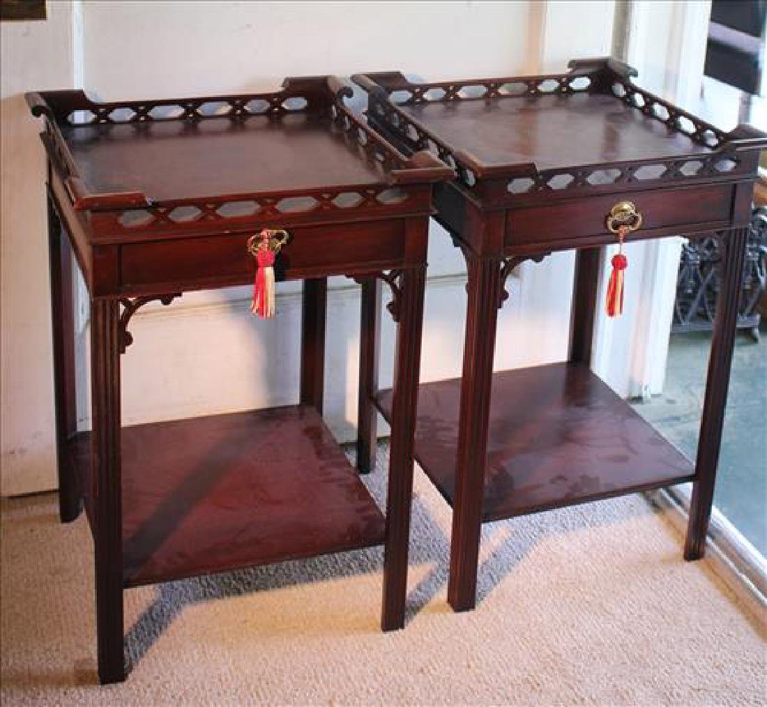 Pair mahogany night stands made in Grand Rapid