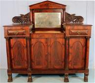 Mahogany Empire sideboard with great carving