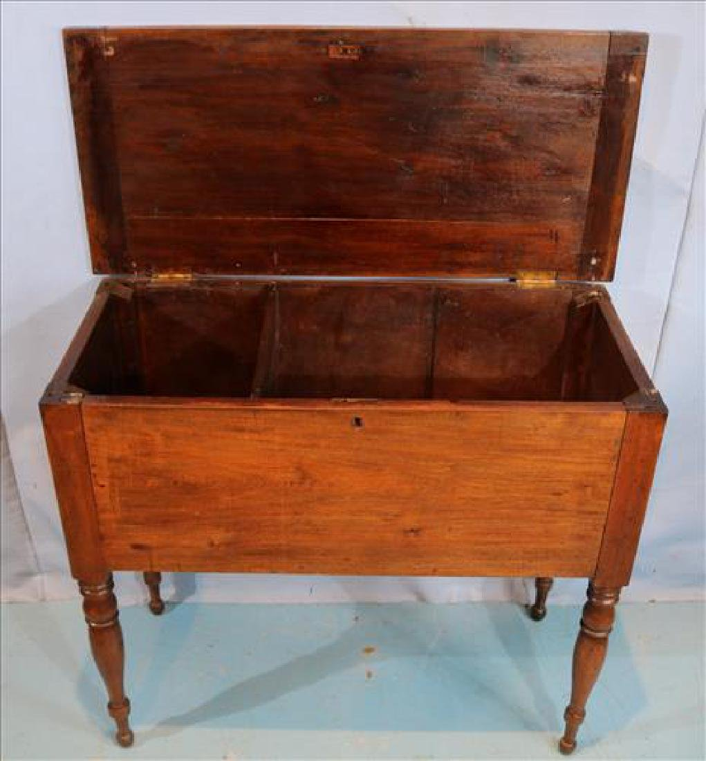 Walnut southern sugar chest with turned legs - 2