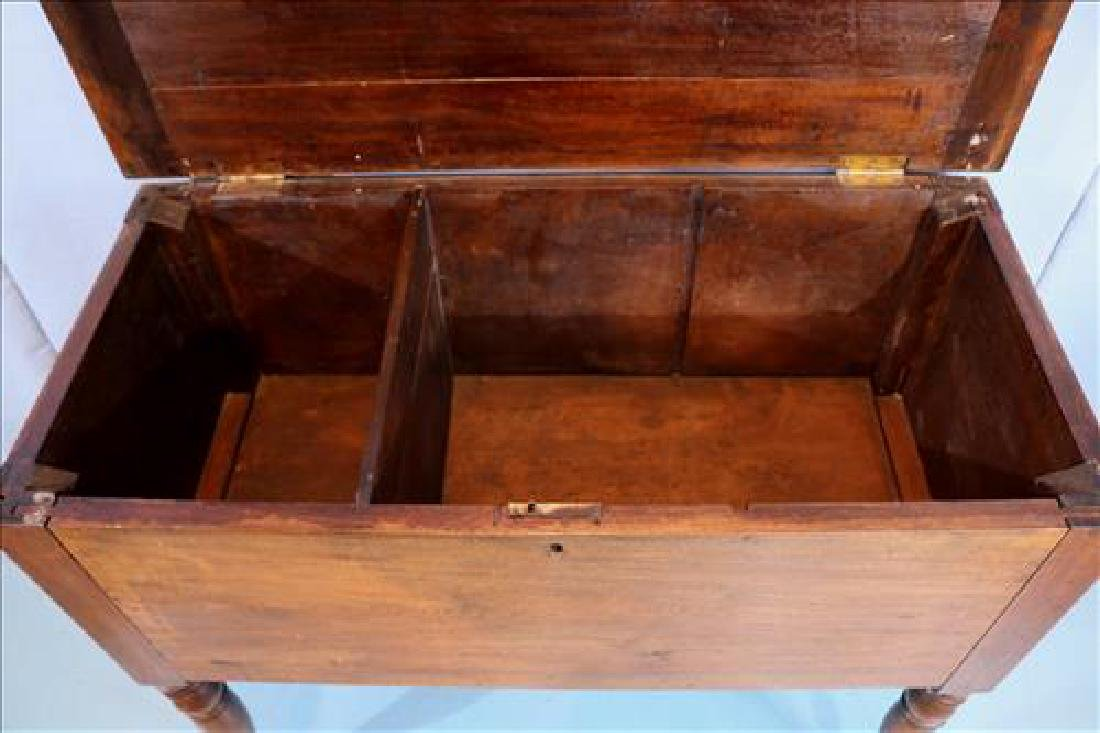 Walnut southern sugar chest with turned legs - 3