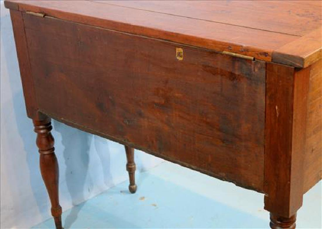 Walnut southern sugar chest with turned legs - 7