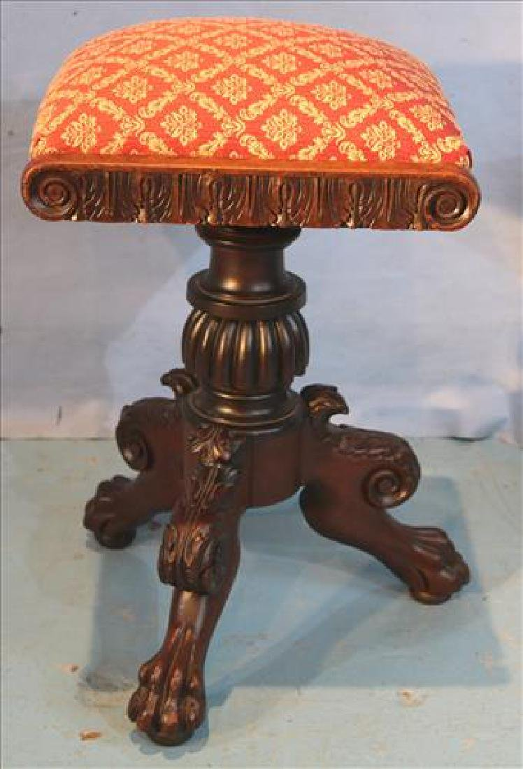 Early mahogany Empire organ stool